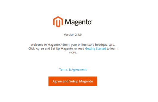 Magento signup